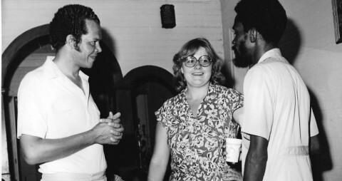 OD-LEDER: I 1979 var Erna Solberg leder for Operasjon Dagsverk. Pengene som ble samlet inn gikk til bygging av en videregående skole på Jamaica. (Foto: Operasjon Dagsverk)