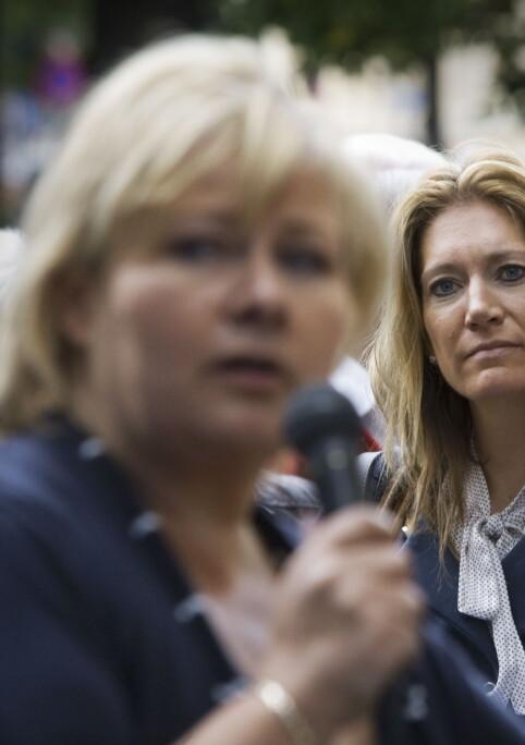 LEDEREN: Julie Brodtkorb har fulgt Erna Solberg tett gjennom flere år (Foto: Scanpix)