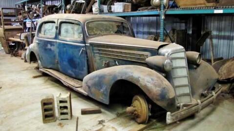 Cadillac Fleetwood - men slik er vi ikke vant til å se dem! Foto: Van Der Brink Auctions.