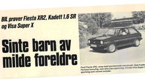Faksimile: Bladet Bil, 1982.