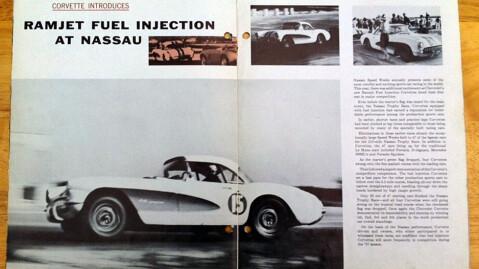 Det vakte stor oppmerksomhet da Chevrolet hadde utviklet et fule injection anlegg i all hemmelighet i 1957 og testet det ut på racerbanen - med stor suksess.