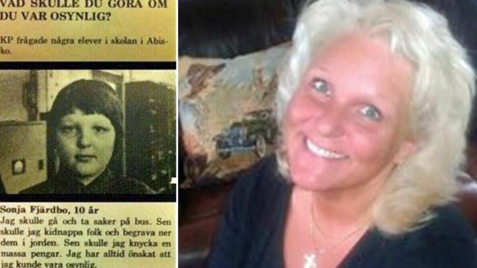 DA OG NÅ: Sonja er langt blidere i dag enn hun var for 36 år siden.