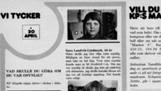 ORIGINALEN: Slik så intervjuet ut på trykk i 1977.