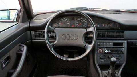Faceliften ga et helt nytt interiør, som fikk leve i nesten ti år og bli med over i neste utgave av Audi 100 og A6. Foto: Finn.no