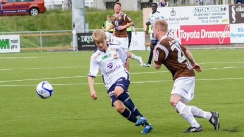 KLARTE SEG FINT: Martin Ødegaard fikk spille én omgang mot Mjøndalen. FOTO:  Foto: Børre E. Helgerud - godset.no © Børre E. Helgerud - godset.no