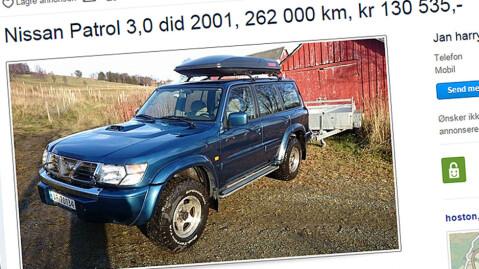 Patrol er en ekte arbeidshest! Faksimile fra www.finn.no.