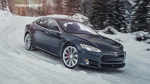 Utvendig er det ingen forskjeller på nye Model S. Men innvendig ...