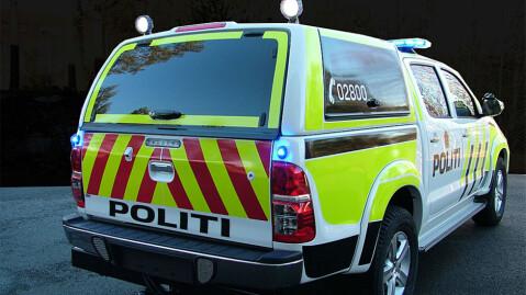 Det er liten tvil om at dette er en politibil, men den vil også leveres i sivil utgave. Foto: Simarud Electronic AS
