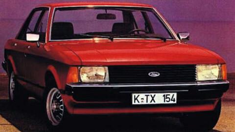 Originalt brosjyrebilde av Ford Granada