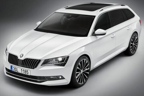 Nye Superb er en stor og romslig familiebil, men har fått et mer sporty design enn før.