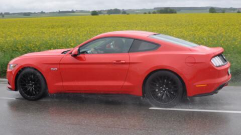 Mustang kler å få sterke farger. Rødt er en klassiker.