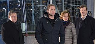 «Åsted Norge» med Asbjørn Hansen (t.h.), Jens Christian Nørve, Hanne Kristin Rhode og John Christian Elden. FOTO: JONAS FABRITIUS CHRISTOFFERSEN / TV 2