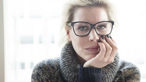 Anne-Kat. Hærland (44) er i ferd med å bli blind