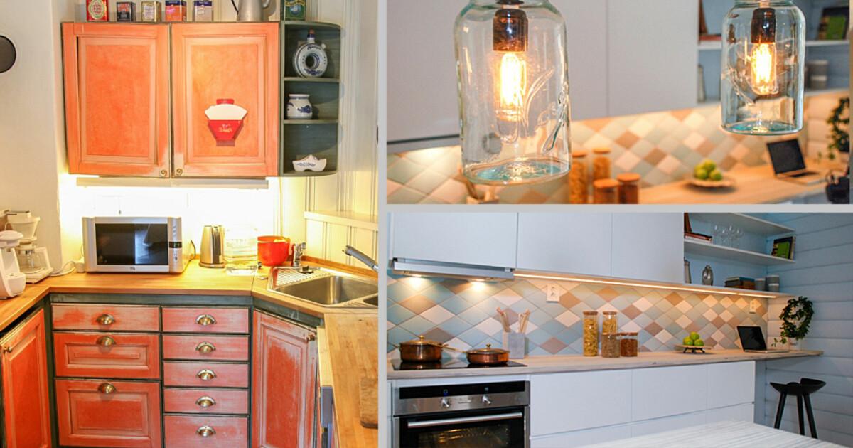 Fra slitent og lakserosa til moderne og stilig kjøkken