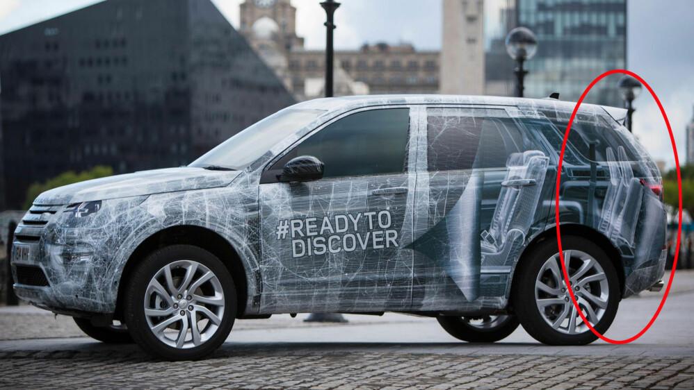 Det nærmer seg premiere på splitter nye Land Rover Discovery Sport. Og som vi ser: Bakerst kommer det en stor nyhet - dette blir nemlig en sjuseter.