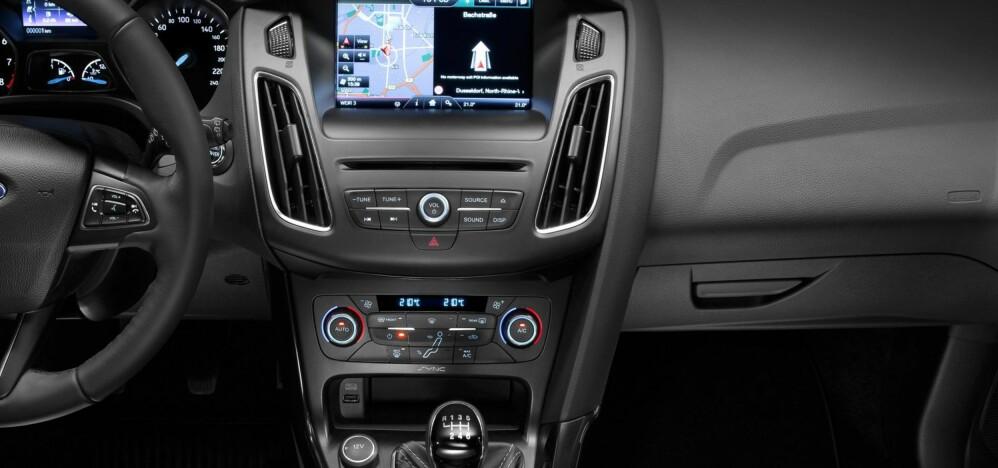 Bilene blir stadig mer avanserte og får mer utstyr. Nye Ford Focus kommer nå blant annet med et system som ordner deg meste for deg når du blir sulten på bilturen.