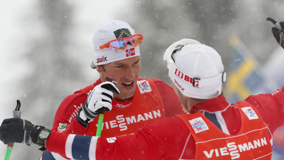 VIL HA ENDRINGER: Chris Jespersen måtte hjelpe Martin Johnsrud Sundby til Tour de Ski-seier forrige sesong, uten at han fikk deler av premiepengene. Det vil han unngå denne sesongen. FOTO: SCANPIX