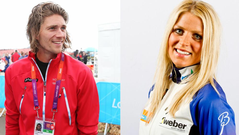 KJÆRESTER: Roeren Nils Jacob Hoff og skistjernen Therese Johaug er blitt sammen. Foto: Scanpix