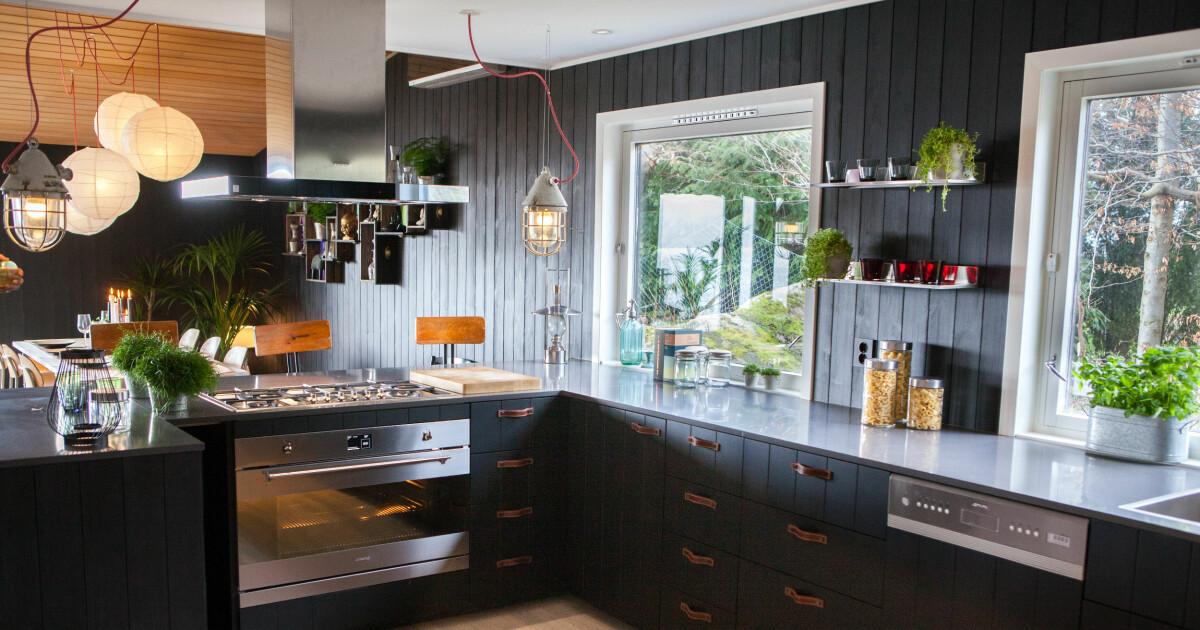 Her er produktene som ble brukt til å lage det sorte kjøkkenet
