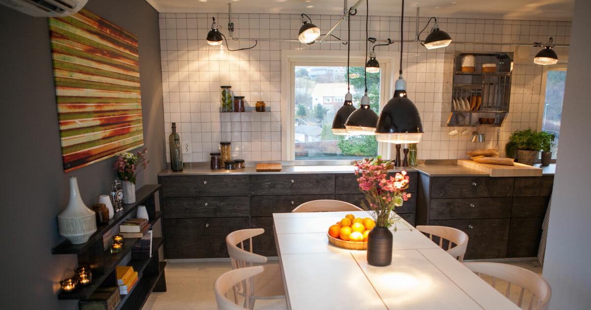 Slik moderniserte Tid for hjem det avlange kj?kkenet til et ?allrom ...