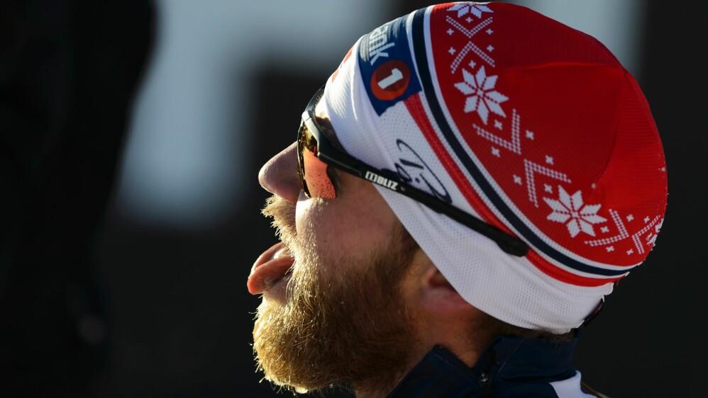 SYK: Martin Johnsrud Sundby ble syk i julen. Men er tilbake i trening.  / AFP / FABRICE COFFRINI