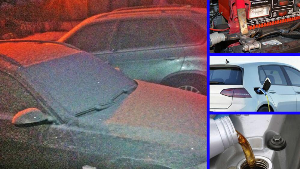 Plutselig kom vinteren for alvor, med skikkelig frost og kulde. Det skaper noen utfordringer for bilistene. Det er viktig å være godt forberedt, om du skal unngå problemer. Illustrasjonsfoto