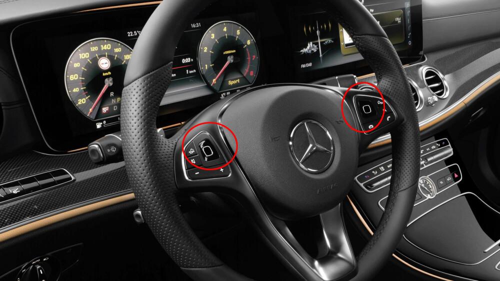 Mercedes kommer med noen banebrytende løsninger på nye E-klasse. Blant annet blir det touch-sensitive knapper på rattet.