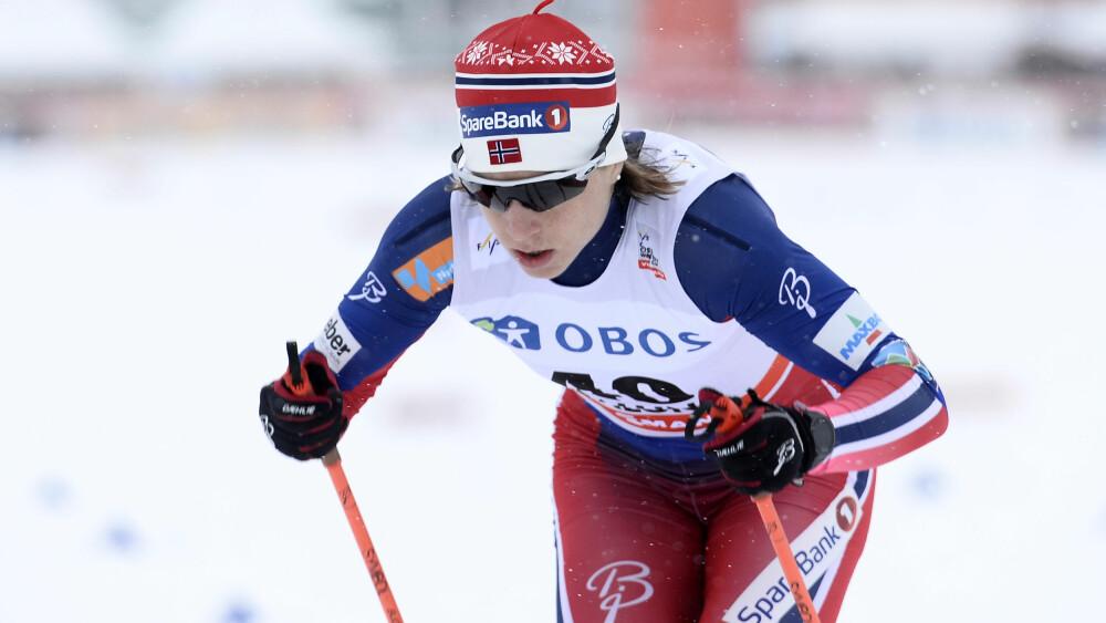 FORBANNET: Norges Astrid Uhrenholdt Jacobsen var sint etter kvinnenes 5 km klassisk i Falun. Foto: Maja Suslin/TT / NTB scanpix