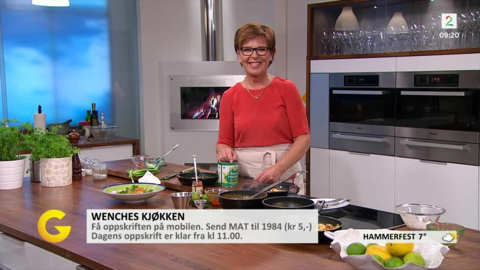 wenche lager mat på tv2