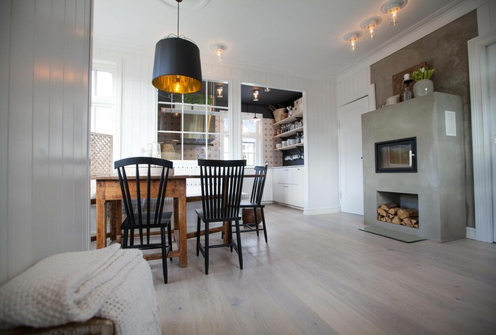 Slik laget Tid for hjem et plassbygget kj?kken med integrerte m?bler