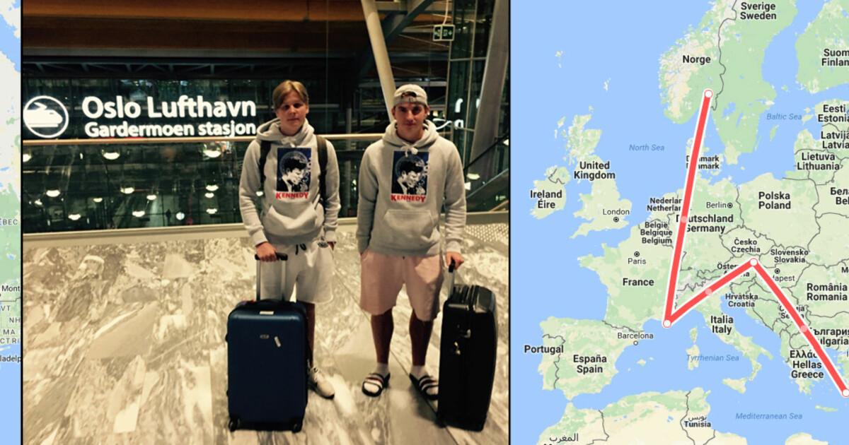 37683866 Norwegian kansellerte - guttegjengen må reise Europa rundt for å komme frem