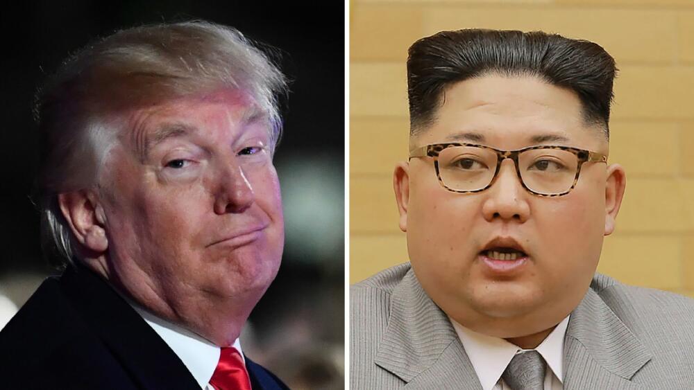 """Trump a Kim: """"Meu botão nuclear é maior e funciona"""""""