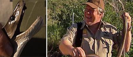 ANDERS BERG PÅ JAKT: Anders Berg ble angrepet av en slage under en jakttur i Sør-Afrika.