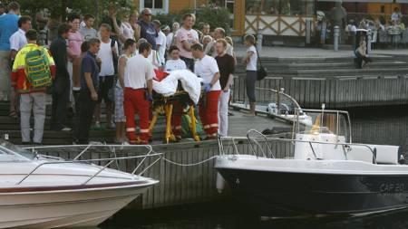 Alejandro Fuentes krasjer båt (Foto: Tor Erik Schrøder/SCANPIX .)