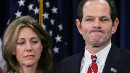 Eliot Spitzer og kona Silda Wall Spitzer. (Foto: SHANNON STAPLETON)