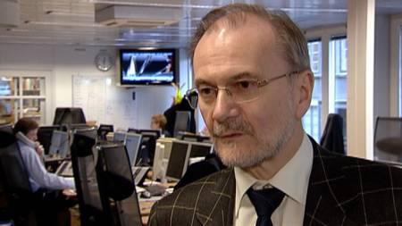 Sjeføkonom i Handelsbanken, Knut Anton Mork. (Foto: TV 2)