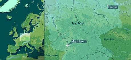 Flyet kom fra Berlin da det skled av rullebanen i Mannheim onsdag ettermiddag.