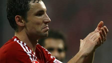 STINKTIEFEL: Mark van Bommel ble utropt til mest populære spillere hos Bayern-fansen i fjor. Nå har han nettet nok en tittel. (Foto: ALEXANDRA BEIER, ©AX/CVI)