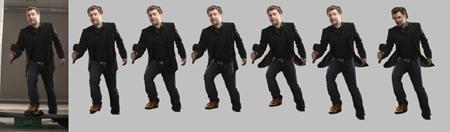 Slik forandres kroppen i løpet av retusjeringen av bildet. Totalt består den ferdige kroppen av seks ulike bilder.