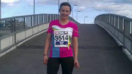 GA ALT FOR LAGET: Jane Wirkola fra Asker måtte løpe to etapper i Holmenkollstafetten da hun ikke fant den hun skulle veksle med. (Foto: Privat/)
