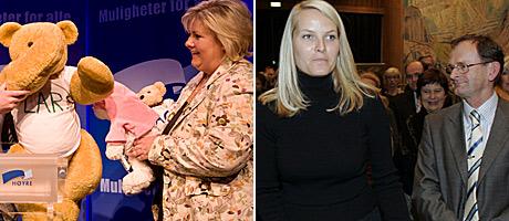 Erna Solberg og Erling Lae
