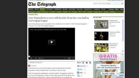 Faksmilie: The Telegraph. (Foto: Skjermdump: The Telegraph/)