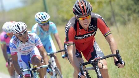 Thor Hushovd på tredje etappe av Tour de San Luis 2013. Hushovd gikk på en smell og måtte til slutt bryte rittet. (Foto: Tim de Waele/Corbis editorial)