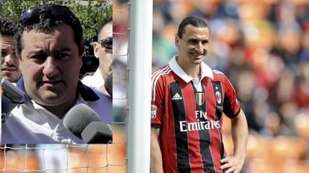 SKAPER USIKKERHET: Zlatan Ibrahimovics agent vil ikke garantere at svensken er Milan-spiller kommende sesong. (Foto: ALBERTO LINGRIA/Afp)
