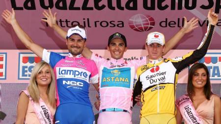 Alberto Contador, Marzio Bruseghin, Riccardo Ricco  (Foto: ALESSANDRO TROVATI/AP)