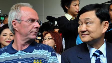 Thaksin og Svennis  (Foto: SUKREE SUKPLANG/REUTERS)