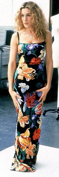 MODELL: Her er «Carrie» i en kjole som senere skulle bli brukt av Heidi klum i et moteshow. (Foto: Stella)