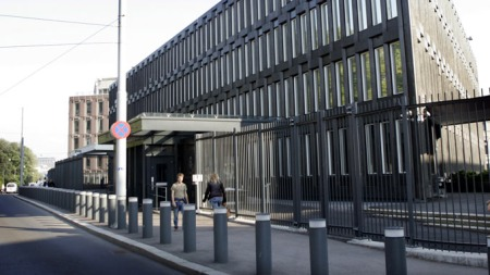 USAs ambassade i Oslo. (Foto: SCANPIX)