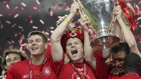 Steven Gerrard, John Arne Riise  (Foto: FILIPPO MONTEFORTE/AFP)