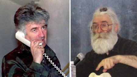 RADOVAN Karadzic anno 1995 og 2008.  (Foto: AFP)